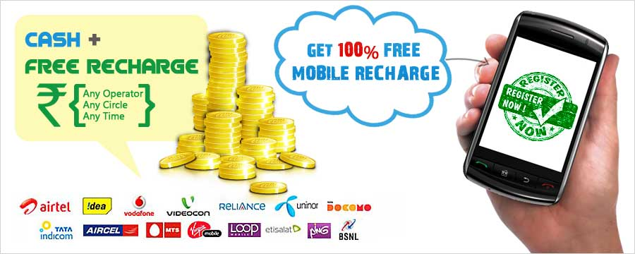 Free Mobile Recharge, Mobile Recharge, Cash Earnings